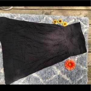 Black Strapless Sundress
